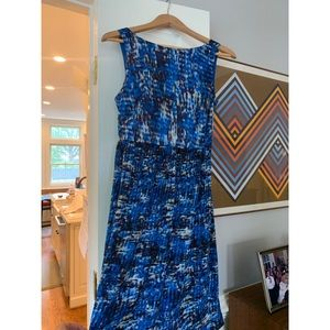 Ann Taylor Blue Silk Dress